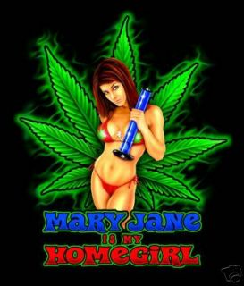 Mary Jane Weed Bong Marijuana 420 Gorgeous LG