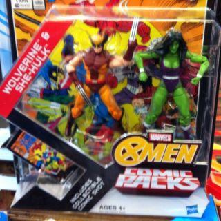 Marvel Universe Greatest Battles Comic Pack Wolverine Vs She Hulk Xmen