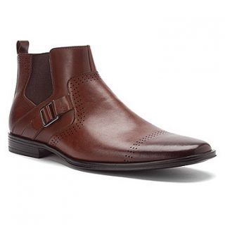 Stacy Adams Mens Mason Plain Toe Ankle Boots Brown Leather 24763 200