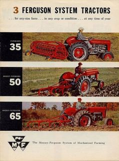 Massey Ferguson MF35 MF50 MF65 Factory Service Repair Manual