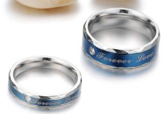 Matching Titanium Steel Promise Love Ring Couple Wedding Bands Many