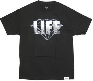 Diamond Supply Co NY Diamond Life Tee Black Mens Premium Skateboard T