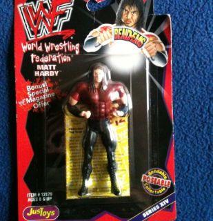 WWF RARE JustToys Matt Hardy Bend Ems Figure WWE MOC Just Toys Bendems