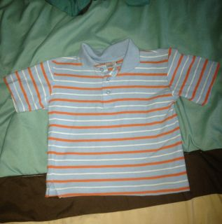 Toddler Boys Striped Polo Shirt Size 4 or 4T