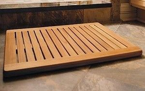 Large Teak Wood Doormat Door Mat Bath Shower Spa Floor