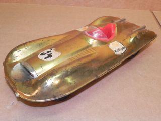 Vintage Mattel Toys Mobilgas Tin Litho Bonneville Salt Flats Race Car