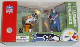 McFarlane NFL Troy Polamalu Matt Hasselbeck Figure Set