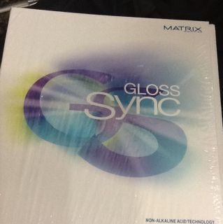 Matrix Gloss Color Sync Demi Permanent Hair Color Swatch Book BRAND