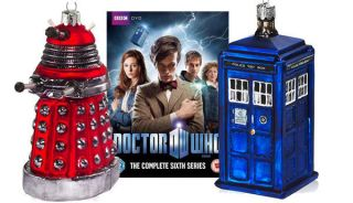 Brilliant Doctor Who Kurt Adler Ornament Set Matt Smith Tardis Dalek