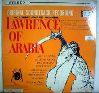 Lawrence of Arabia Maurice Jarre London Philharmonic. COLPIX SCP 514