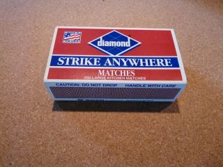 DIAMOND RED TIP STRIKE ANYWHERE MATCHES 250 LARGE KITCHEN MATCHES