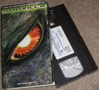 Godzilla 1998 VHS Matthew Broderick New York City