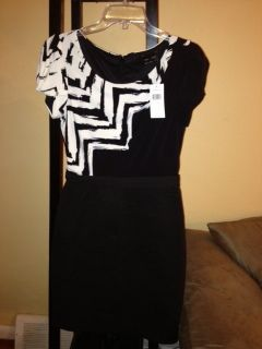 Max and Cleo Black White Dress