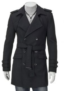 Mature Mens Military Trench Long Rain Coats Army Jacket