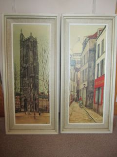 Vintage Set of MAURICE UTRILLO Framed Montmarte 1939 Litho Prints FREE
