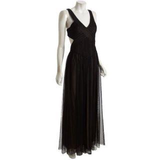 BCBG Max Azria Black Evening Formal Cocktail Gown Dress Size 8