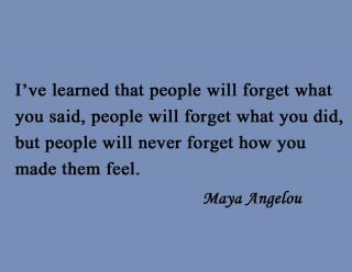 Vinyl Wall Art Famous Quote Poet Maya Angelou People Will Forget What
