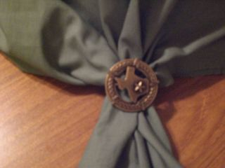 Texas Barbed Wire Scarf Slide Sass Rodeo Cowboy Poet