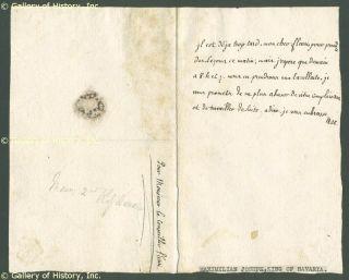 King Maximilian II Bavaria Autograph Letter Signed