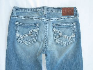 Big Star Jeans Maddie Light Distressed Wash Thick Stitch Sz 30 L