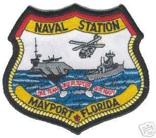 USN Navy Naval Station NS Mayport Florida Patch