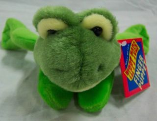 Mary Meyer Tippy Toes Frog Finger Puppet 6 Plush Stuffed Animal Toy