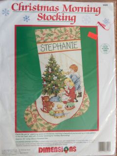 New Dimensions Christmas Morning Stocking counted cross stitch kit 16
