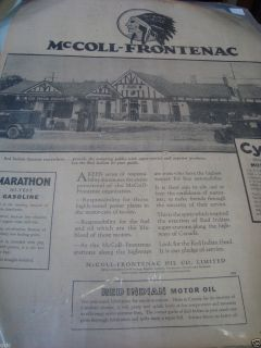 McColl Frontenac 16x24 Full Page Ad from The Globe NWSPR 1928 Red
