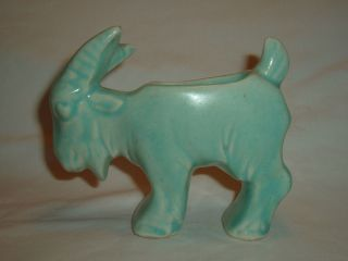 Vintage Green Goat McCoy Pottery Figurine Planter No Mark