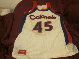 Kentucky Colonels ABA Basketball Game Used Jersey 45 Jim McDaniels