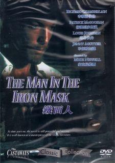 Man in the Iron Mask DVD Richard Chamberlain Patrick McGoohan NEW R0