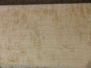Highly Figured LONG Curly Birdseye Maple Board Wood Lumber 4 1 4 X96