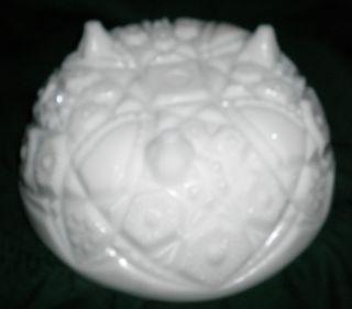 EAPG McKee Milk Glass Early 1900's olec ri Fooed Bowl