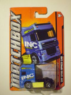 Matchbox 2012 MBX Highway DAF XF95 Space Cab Blue Yellow
