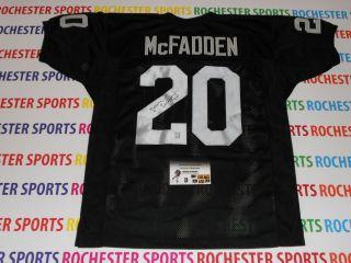 DARREN MCFADDEN autographed signed Raiders black Jersey GTSM McFadden