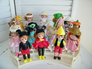 Lot of 15 Madame Alexander McDonalds Collectable Dolls w Display Set