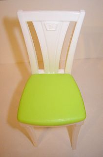 Mattel Barbie Doll Dollhouse Size Chair Kitchen Seat