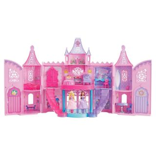 Mattel Barbie The Princess And The Popstar Dolls Castle House Complete