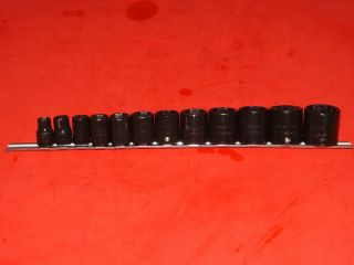 Snap On Tools 1 2 Drive Shallow Impact Standard SAE 12 Piece 6 Point
