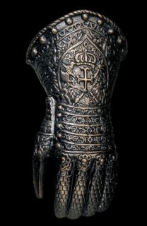 Medieval French Knight Armor Glove Gauntlet Display