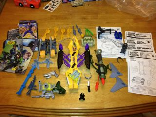 MAX STEEL Large Lot of BATTLE GEAR & ACCESSORIES For 12 GI JOE TYPE