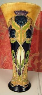 Art Deco Style Porcelain Vase Hand Painted by Jeanne McDougall