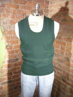 Vtg 70s McGregor His Majestys Ribbed Rib Acrylic Sweater Vest Sz