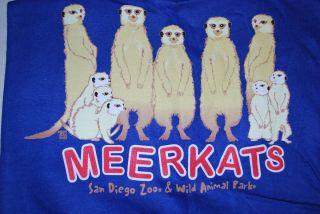 SAN DIEGO ZOO MEERKATS Member Exclusive T Shirt XL Tee Shirt Wild