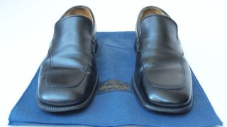 Silvano Mazza (owned by Prada) Black Loafers Shoes Sz 8.5 Fatte a mano