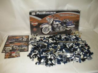 MEGA BLOKS PRO BUILDER HARLEY DAVIDSON ROAD KING 9770 BUILDING SET