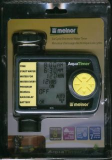 New Open Box Melnor Six Cycle Electronic Water Timer Aquatimer 3015
