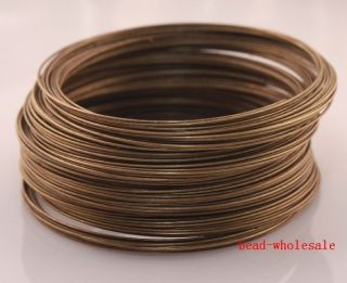 Loops Antique Bronze Memory Steel Wire for Cuff Bangle Bracelet