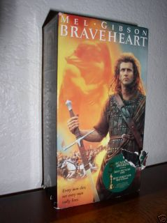 Mel Gibson in Braveheart VHS 1996