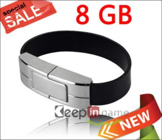 Leather Bracelet USB Flash Memory Stick Drive 8GB 8 GB